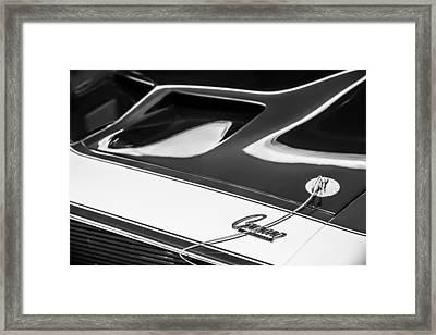 1968 Chevrolet Yenko Super Camaro Hood Emblem -1767bw Framed Print by Jill Reger