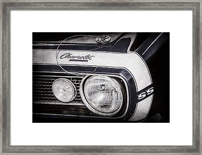 1968 Chevrolet Yenko Super Camaro Hood Emblem -1785ac Framed Print by Jill Reger
