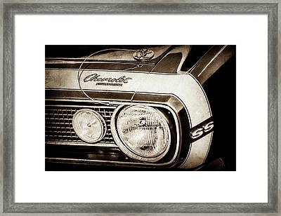 1968 Chevrolet Yenko Super Camaro Hood Emblem -1785s Framed Print by Jill Reger