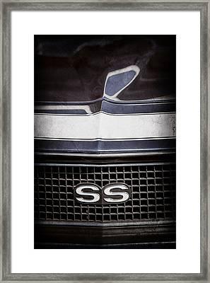 1968 Chevrolet Yenko Super Camaro Ss Grille Emblem -1745ac Framed Print by Jill Reger