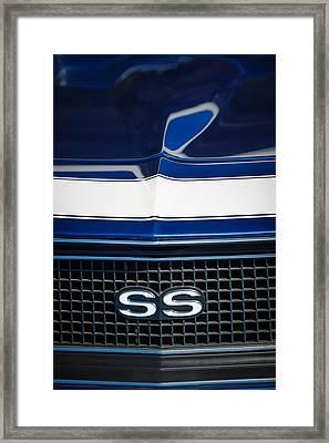 1968 Chevrolet Yenko Super Camaro Ss Grille Emblem -1745c Framed Print by Jill Reger