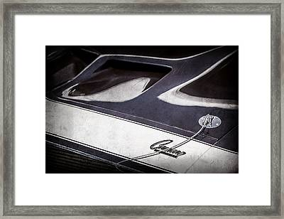 1968 Chevrolet Yenko Super Camaro Ss Hood Emblem -1767ac Framed Print by Jill Reger