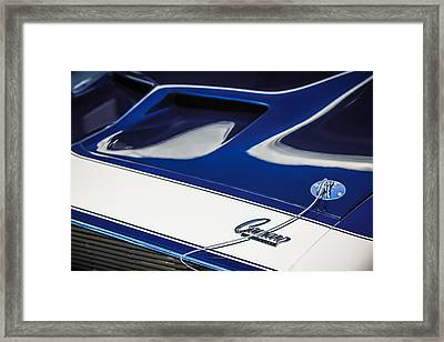 1968 Chevrolet Yenko Super Camaro Ss Hood Emblem -1767c Framed Print by Jill Reger