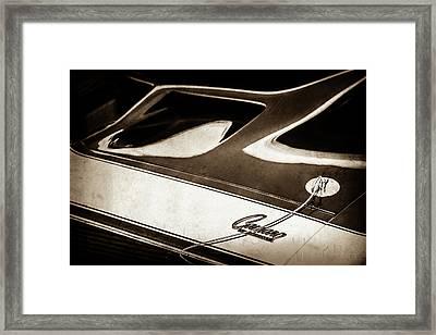 1968 Chevrolet Yenko Super Camaro Ss Hood Emblem -1767s Framed Print by Jill Reger
