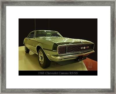 1968 Chevy Camaro Rs-ss Framed Print