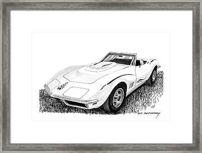 1968 Corvette Framed Print by Jack Pumphrey