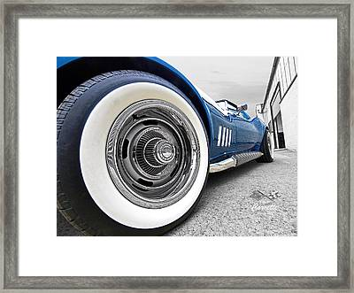 1968 Corvette White Wall Tires Framed Print