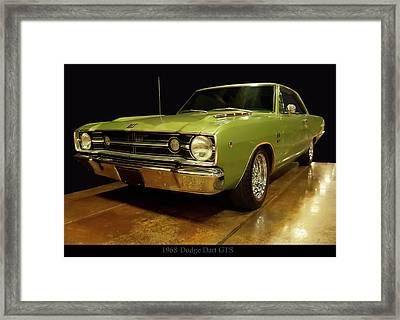 Framed Print featuring the photograph 1968 Dodge Dart Gts by Chris Flees