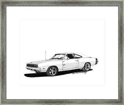 Dodge S R T 1968 Framed Print by Jack Pumphrey