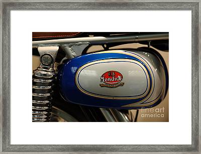 1968 Fb Mondial 48cc Record Sport . 5d16951 Framed Print by Wingsdomain Art and Photography
