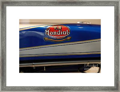 1968 Fb Mondial 48cc Record Sport . 5d17048 Framed Print by Wingsdomain Art and Photography