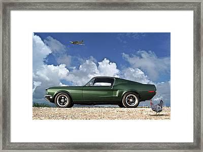 1968 Ford Bullitt Mustang Gt 390 Fastback, Steve Mcqueen Framed Print