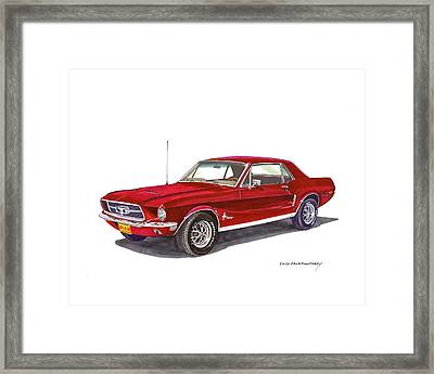 1968 Ford Mustang Coupe Framed Print