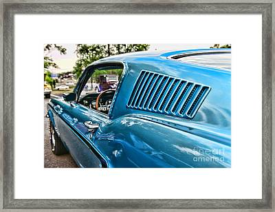 1968 Ford Mustang Fastback In Blue Framed Print by Paul Ward