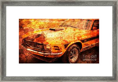 1968 Ford Mustang Gt, Valentine Gift For Men Framed Print by Pablo Franchi