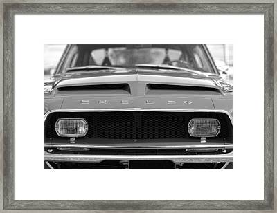 1968 Ford Mustang Shelby Gt500 Kr - King Of The Road Framed Print