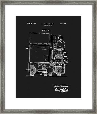 1968 Forklift Patent Framed Print by Dan Sproul
