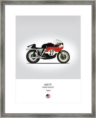 1968 Harley Krtt Road Racer Framed Print