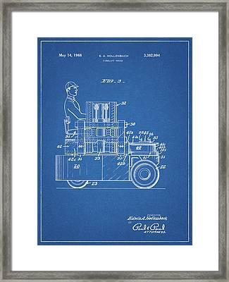 1968 Lift Truck Patent Framed Print