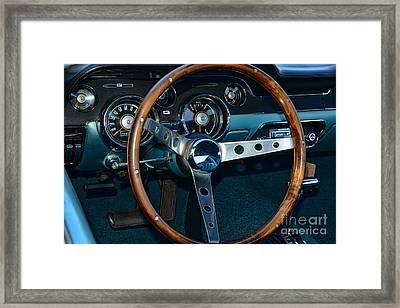 1968 Mustang Fastback Steering Wheel Framed Print by Paul Ward