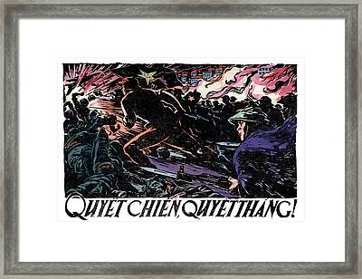Framed Print featuring the painting 1968 North Vietnamese Propaganda by Historic Image