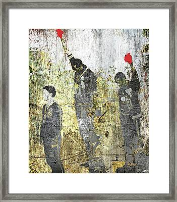 1968 Olympics Black Power Salute Framed Print by Tony Rubino