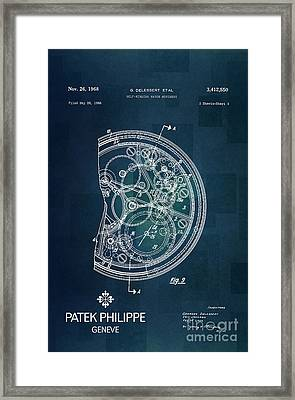 1968 Patek Philippe Patent 1 Framed Print by Nishanth Gopinathan