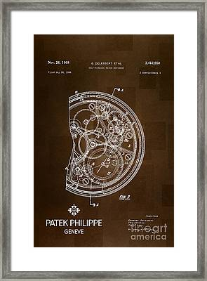 1968 Patek Philippe Patent 2 Framed Print by Nishanth Gopinathan