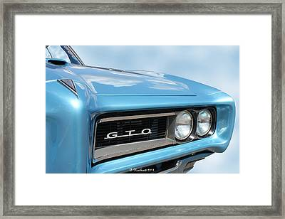 1968 Pontiac Gto Framed Print by Betty Northcutt