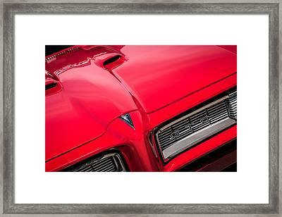 1968 Pontiac Gto Grille Emblem -0740c Framed Print