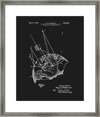 1968 Satellite Communication Patent Framed Print by Dan Sproul