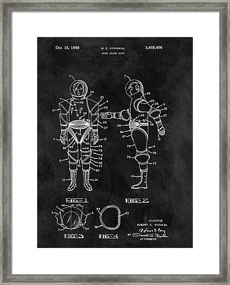 1968 Space Suit Framed Print by Dan Sproul