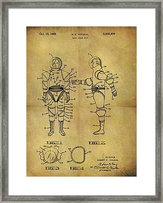 1968 Space Suit Patent Framed Print by Dan Sproul