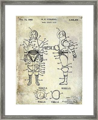 1968 Space Suit Patent Framed Print by Jon Neidert