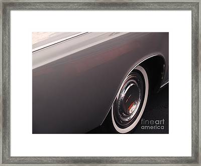 1968 Vintage Lincoln Sedan Fender Framed Print by Anna Lisa Yoder