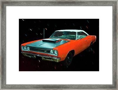 1969 1/2 Dodge Coronet A12 Superbee Digital Oil Framed Print