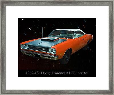 1969 And A Half Dodge Cornet A12 Superbee Framed Print