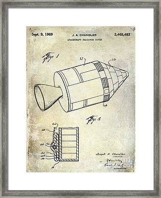 1969 Apollo Spacecraft Patent Framed Print by Jon Neidert