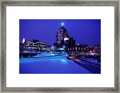 Framed Print featuring the photograph  1969 Boston Twilight by Historic Image