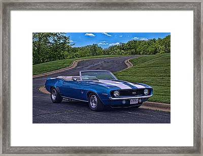 1969 Camaro Ss Convertible Framed Print by Tim McCullough