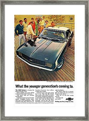 1969 Chevrolet Camaro Ss Framed Print by Digital Repro Depot