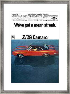 1969 Chevrolet Camaro Z/28 Framed Print by Digital Repro Depot