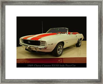1969 Chevy Camaro Rs/ss Indy Pace Car Framed Print