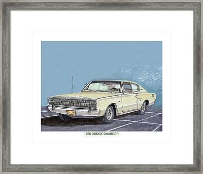 1969 Dodge Charger Framed Print by Jack Pumphrey