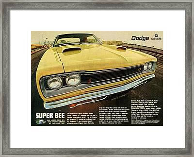 1969 Dodge Coronet Super Bee Framed Print by Digital Repro Depot
