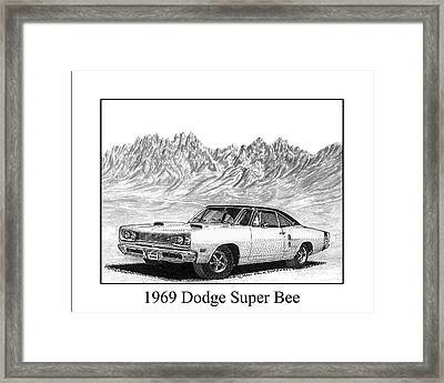 1969 Dodge Super Bee Framed Print by Jack Pumphrey