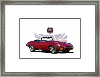 1969 E-type Jaguar Framed Print
