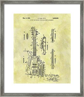 1969 Electric Guitar Patent Framed Print