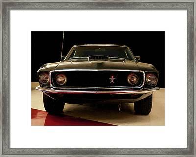 1969 Ford Mustang Digital Oil Framed Print