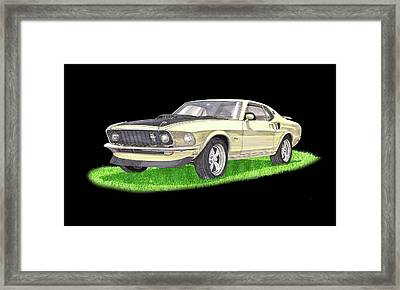 1969 Ford Mustang Fastback Framed Print by Jack Pumphrey
